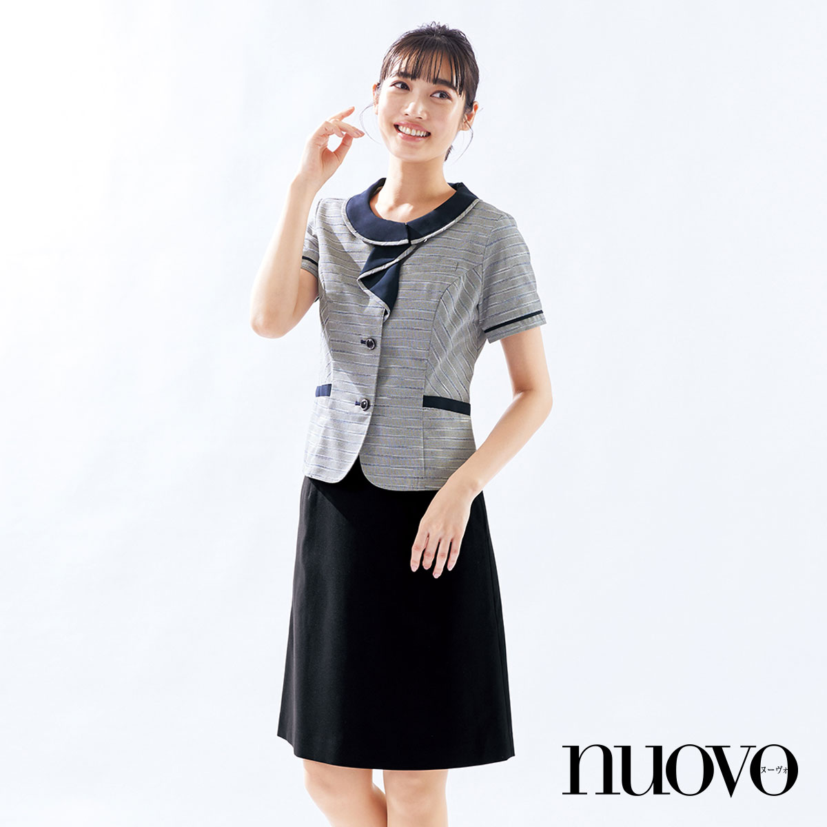 FS45918 脇ゴムAラインスカート