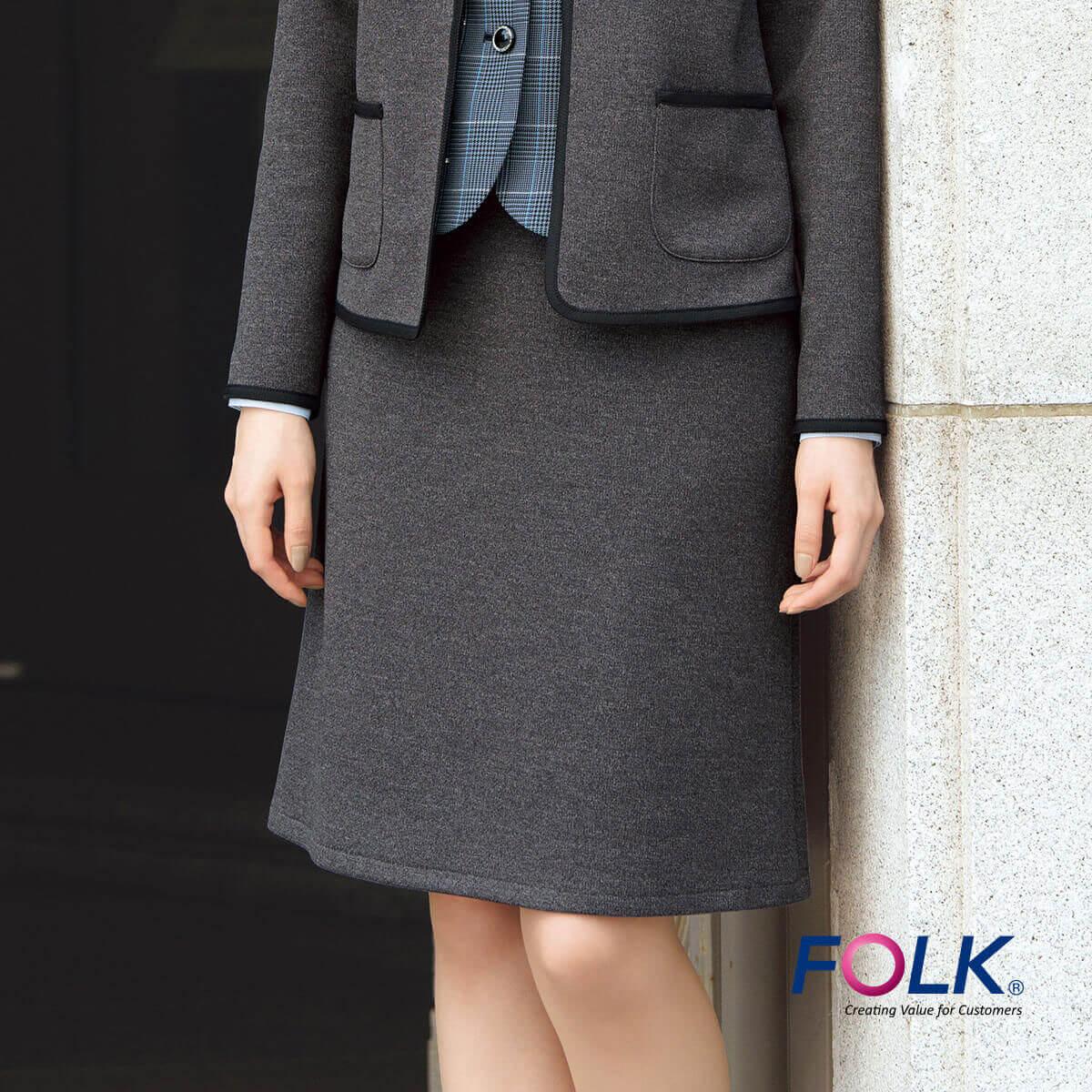 FS45929 ベルトレスAラインスカート