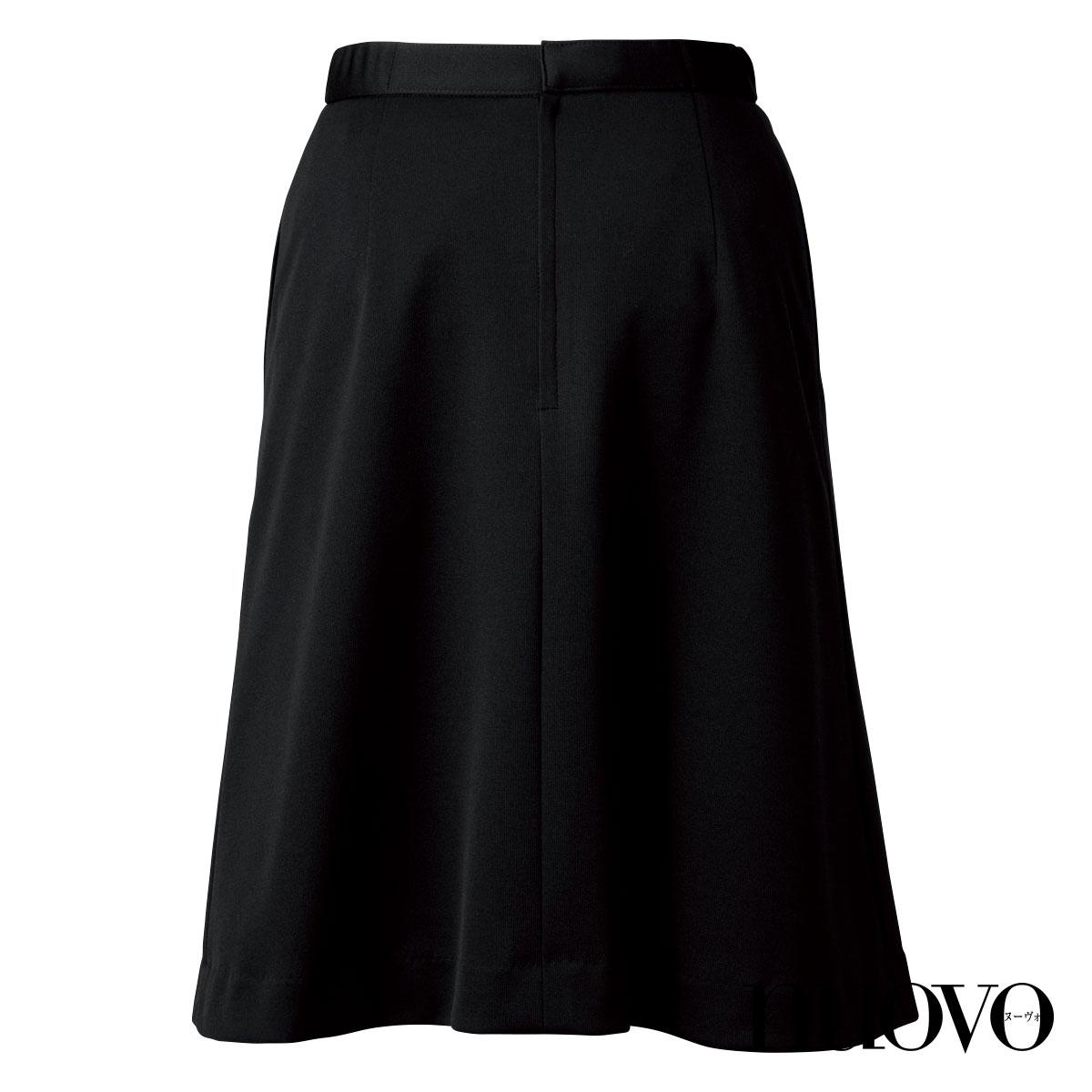 FS45981 脇ゴム片プリーツスカート