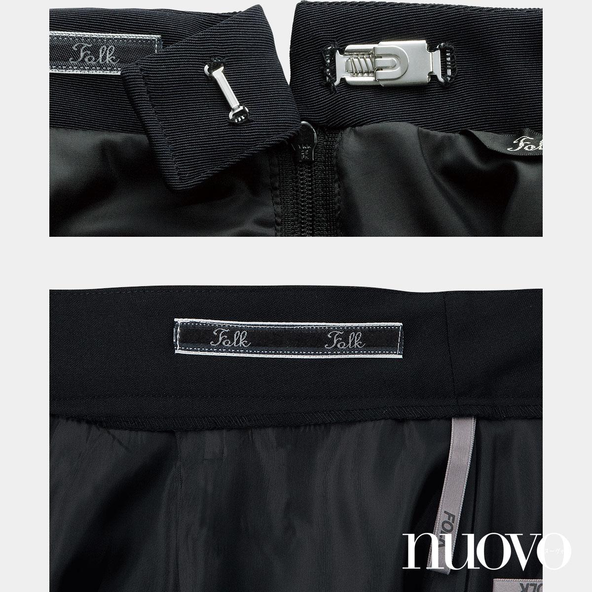 FS45791 バックアップカイロポケット付ソフトプリーツスカート