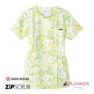 7034SC 花柄スクラブ