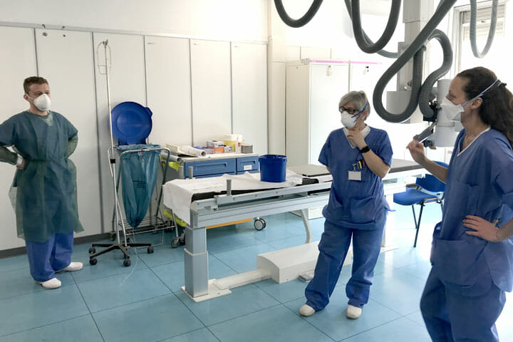 ロンバルディア地域(イタリア)最初に集団発生があった3つの病院で感染制御にあたる国境なき医師団