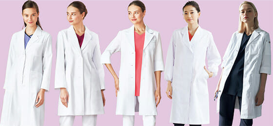 新米女医に着てもらいたいレディースドクターコート 3選